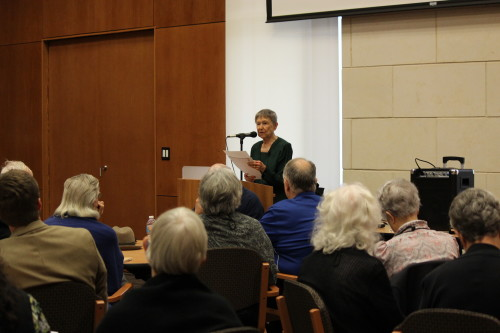 """Sr. Mary Christine Morkovsky at """"Surrender to Christ for Mission: French Spiritual Traditions"""" sponsored by Oblate School of Theology."""